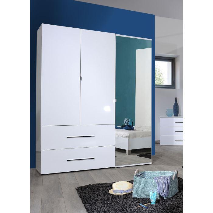 armoire blanche laquée