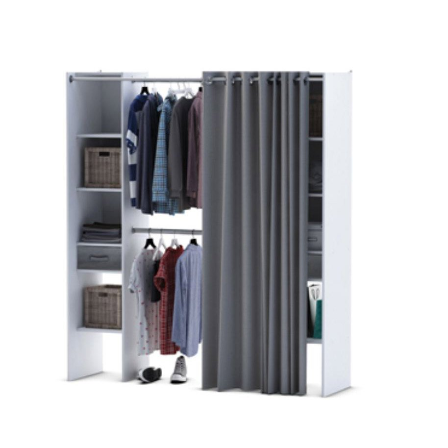 Perfect armoire dressing leroy merlin with colonne de for Meuble rangement leroy merlin