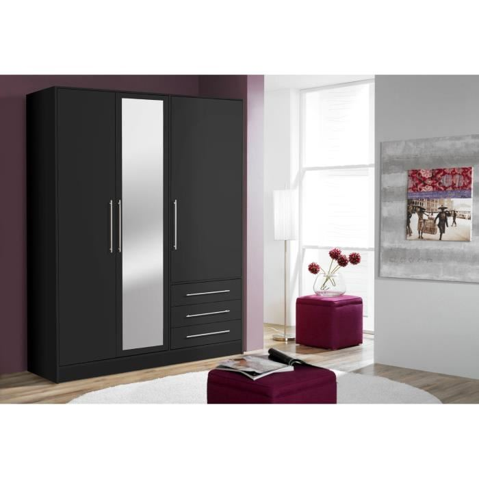 Fabulous awesome armoire noir with armoire noire ikea with for Armoire conforama noir