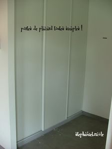 habillage porte de placard