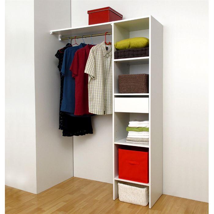 amnagement dressing castorama dressing compoz v blanc with amnagement dressing castorama. Black Bedroom Furniture Sets. Home Design Ideas