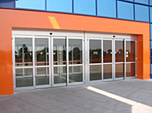 porte coulissante magasin
