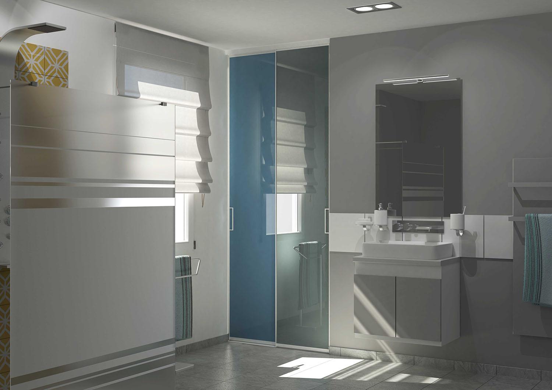 porte de placard salle de bain